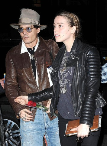 Johnny Depp and Amber Heard Shop at Bauman Rare Books Store